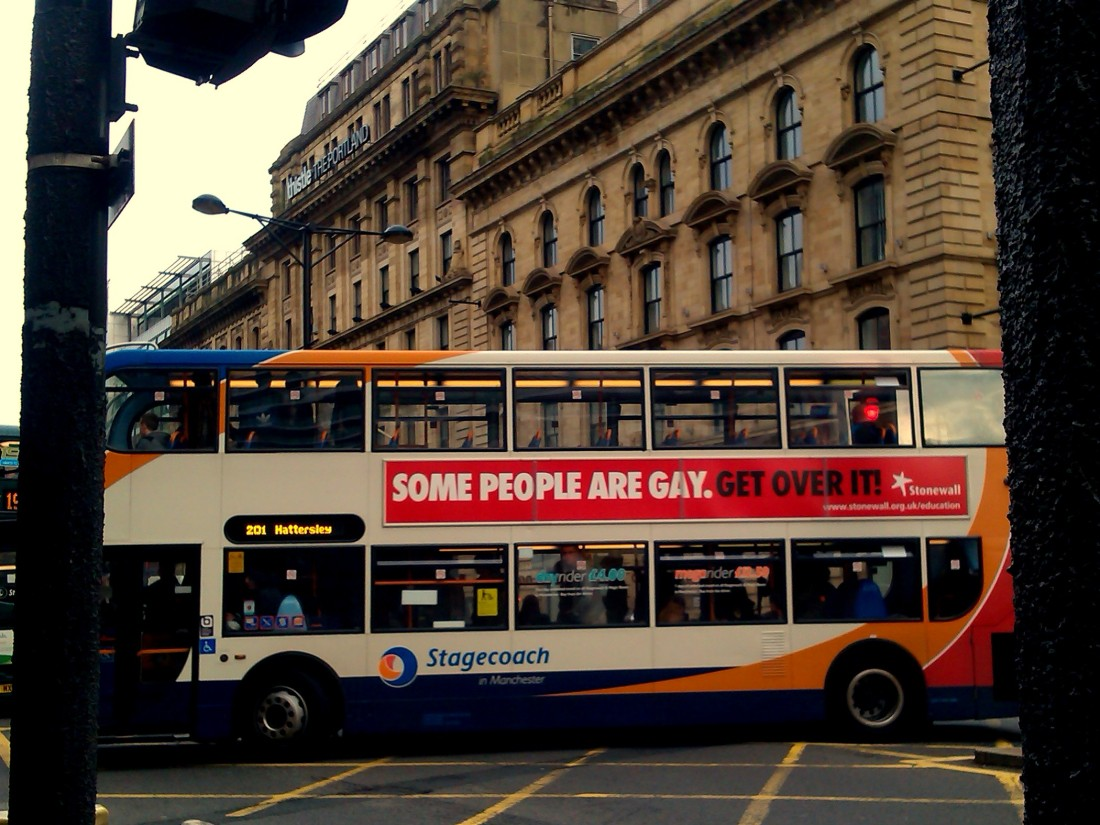 gay advert bus