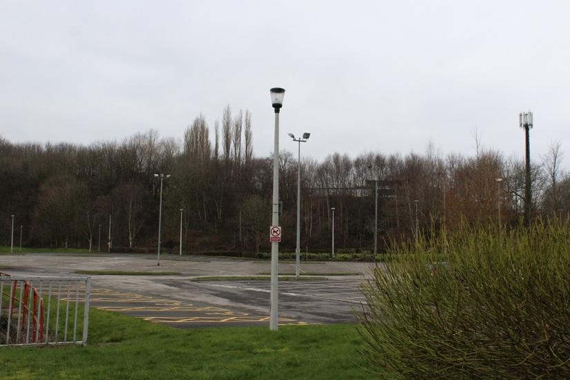 abandoned car park