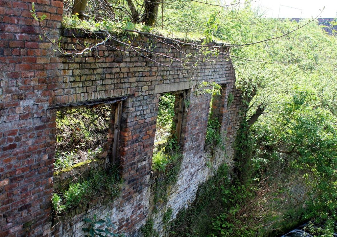 half torn wall