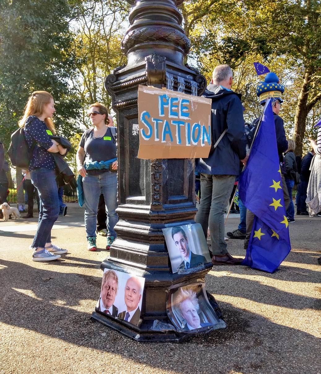 peoples vote march pee station